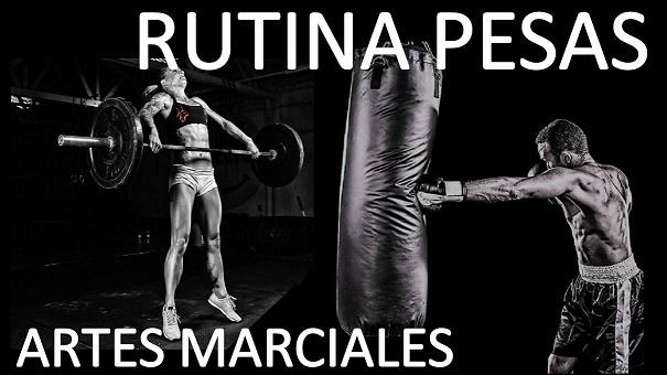 RUTINA DE PESAS PARA INCIARSE (ADAPTACIÓN) KICK BOXING ON LINE